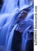 Waterfall in dawn.