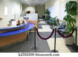 in bank office