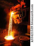 Industry, Steel Mill, Factory, Foun