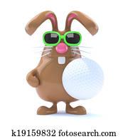 3d Golf bunny