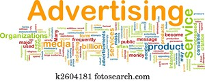 Advertising word cloud