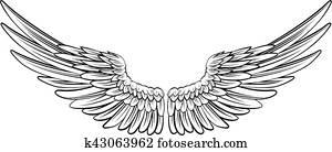 Pair of Spread Wings