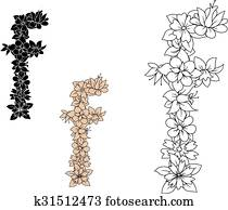 Clip Art Of Alphabet South Street F Letter Lettered Lowercase