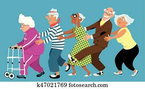 Retirement home conga