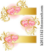 Clip Art Of Valentine S Banner K5807866 Search Clipart