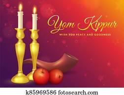 Yom Kippur greeting card.