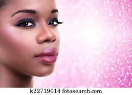 African Woman Makeup