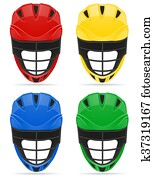 lacrosse helmets illustration