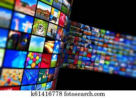 Streaming media technology and multimedia concept