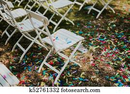 Confetti after wedding
