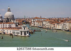 Entrance to Grand Canal in Venice