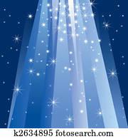 magie, licht, (vector)