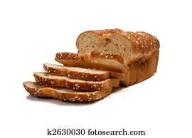 weckerl, von, vollkorn, bread