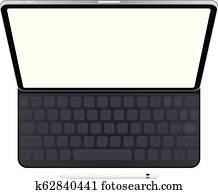Business Tablet with keyboard and pencil