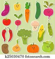 Cute vegetables, healthy food