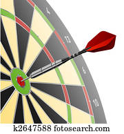 Dart in red target