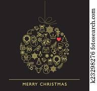 clip art weihnachtskugel schwarz wei linie heiligenbilder k23298117 suche clipart. Black Bedroom Furniture Sets. Home Design Ideas