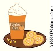 Pumpkin Coffee and Cookies