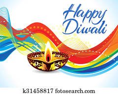abstract colorful diwali wave background