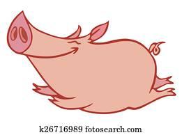 rosafarbenes schwein
