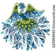 Vector illustration of peacock