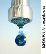 Earth in drop