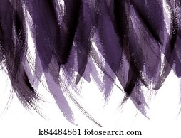 Purple and black abstract hand painted watercolor background. Grunge style paint brush.