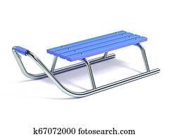 Wooden metal sledge 3D