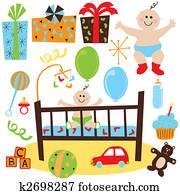 Baby Boy retro birthday party