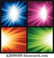 festlicher, christmas,, neue jahre, explosionen, licht, und, sternen