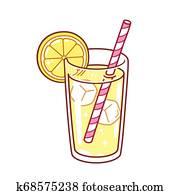 glas, von, limonade