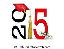 red graduation cap for 2015