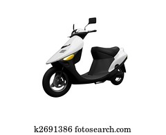 Scooter isolated moto front view 01