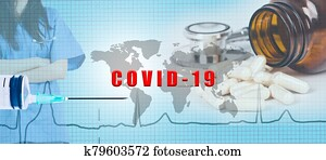 covid-19 vaccine background concept
