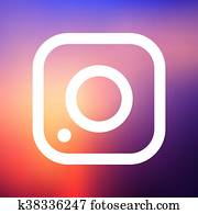einfache, fotoapperat, symbol