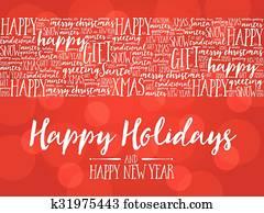 Happy Holidays, background