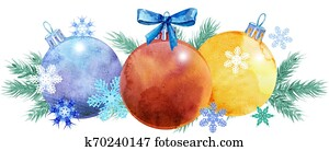 Watercolor Christmas tree border for your creativity