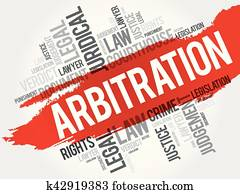 Arbitration word cloud