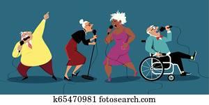 Karaoke night for seniors