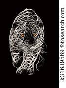 Wild Jaguar Attack Illustration