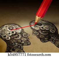Cerveau Crayon Banque d'Illustrations | 287 Cerveau Crayon ...