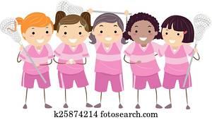 Stickman Girls Lacrosse Team