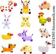 Domestic toy animals