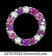 Abstract Luxury Black Diamond Background Vector Illustration Clip