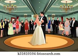 Bride Groom Dancing Their First Dance