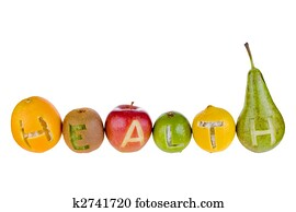 stock photograph of nutrition words showing healthy food vitamins