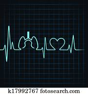 Heartbeat make lungs and heart