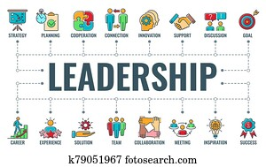 Leadership Collaboration Typography Banner