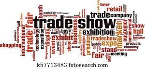 Trade show word cloud