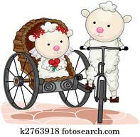 Bride and Groom Sheep